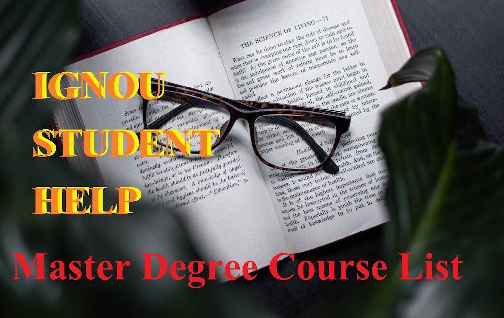 Master Degree के सभी कोर्स के लिस्ट 2021