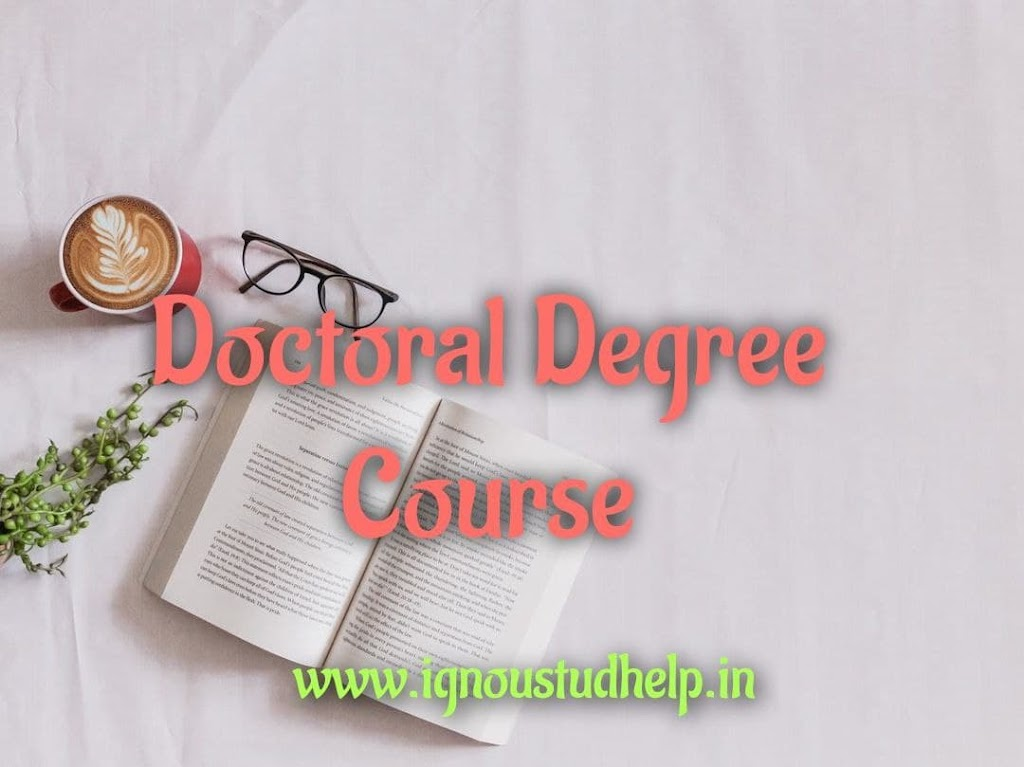 IGNOU Doctoral Degree 2021